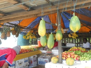 Fruit vendor stall