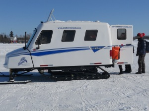 Bombardier for ice fishing trip