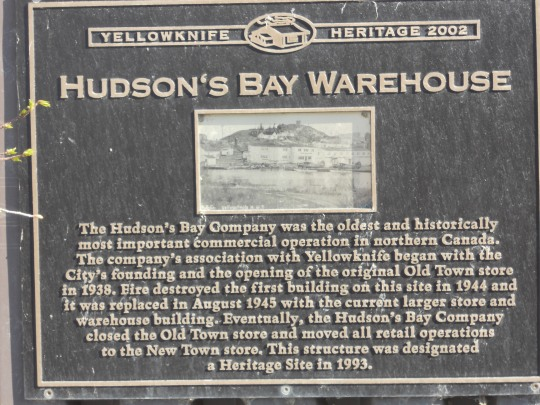 Hudson's Bay Warehouse plaque