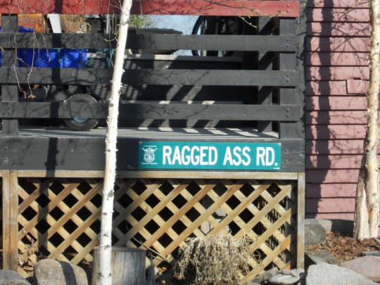 Ragged Ass Road sign