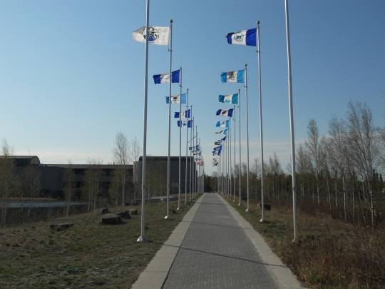 Flags of the 33 NWT communities