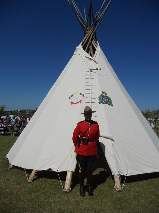 RCMP and teepee