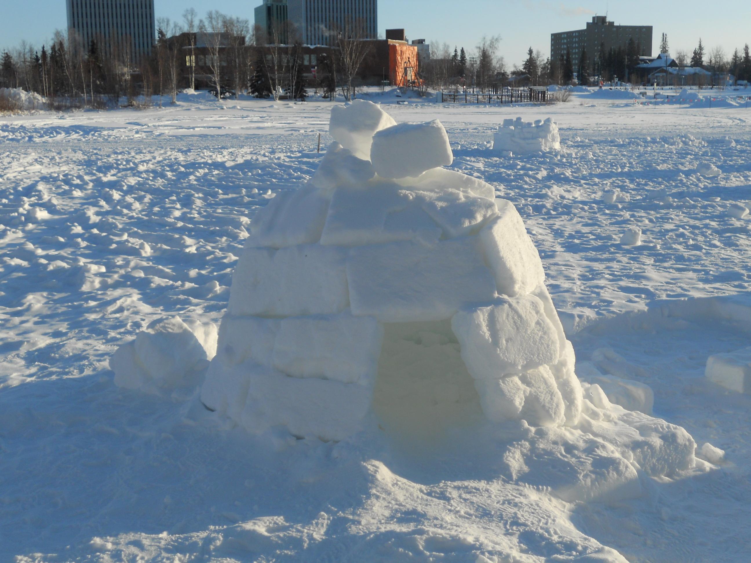 Igloo building | FrozenTrini