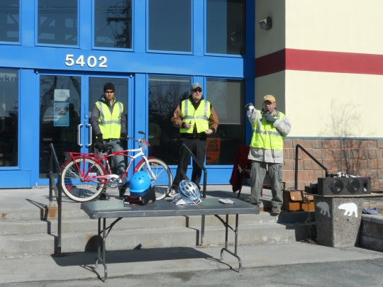 Bike auction in Yellowknife