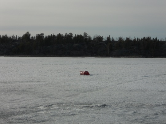 The ice device on Yellowknife's Frame Lake