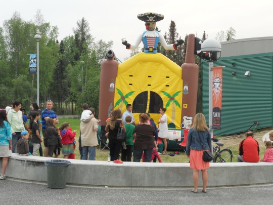 Bouncy castle - Yellowknife Community Barbecue