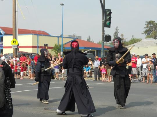 Ninjas on parade