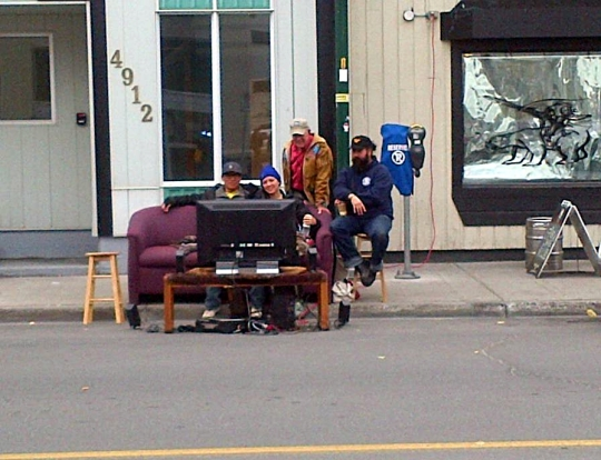 PARKing day Yellowknife - Movies on the street