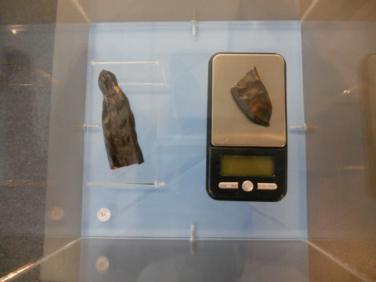 Carob seed and gem scale