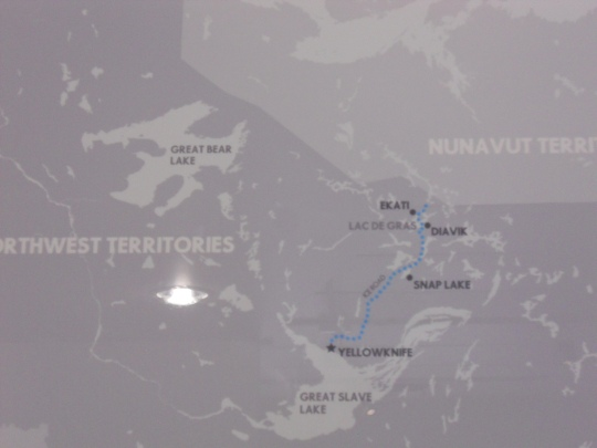 Diamond mines in the Northwest Territories