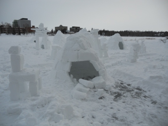 Snow structures - Yellowknife