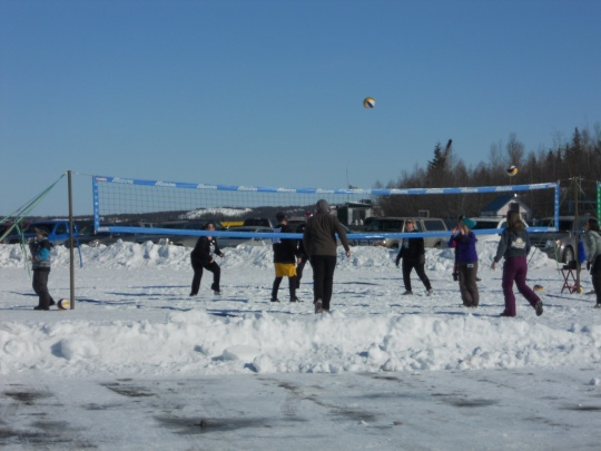 Snow volleyball at Long John Jamboree