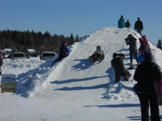 Luge-style sled race Lonh John Jamboree