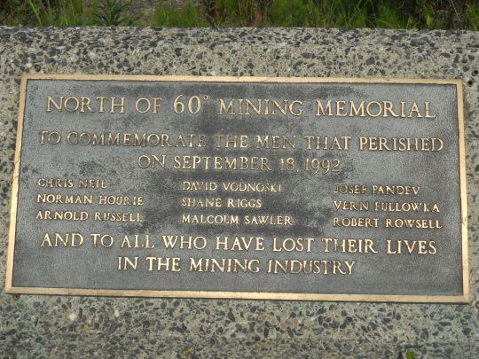Giant Mine memorial