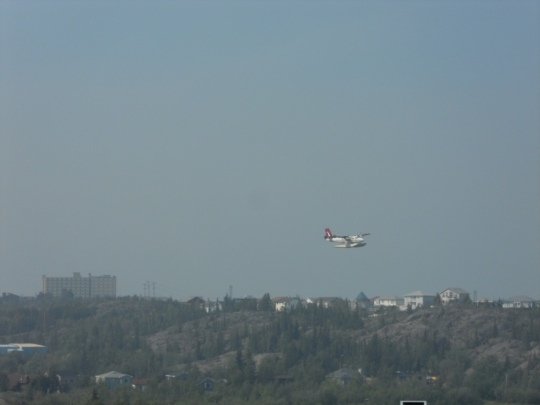 Float plane fly-past