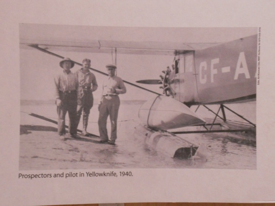Prospectors and pilot in 1940 Yellowknife