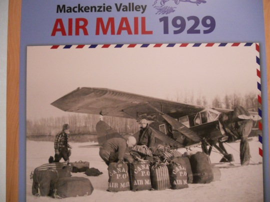 Early NWT air mail delivery