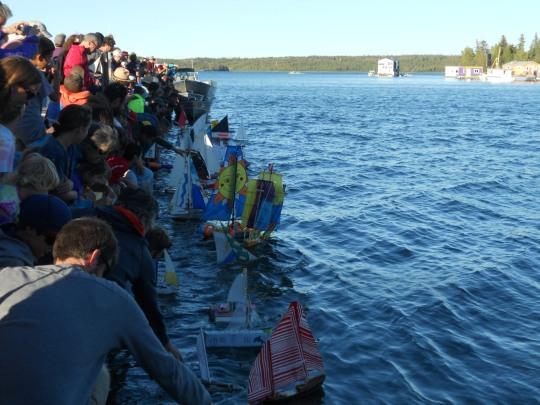 Pond Sailors Regatta - they're off!
